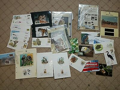 animal thematic stamp collection FDCs mint stamps and storage sheets