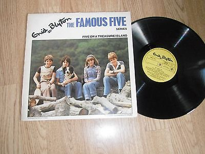 Enid Blyton The Famous Five - Five On A Treasure Island Lp 1975 Exc