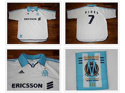 maglia PIRES OLYMPIQUE MARSEILLE OM arsenal centenaire maillot shirt jersey 1999