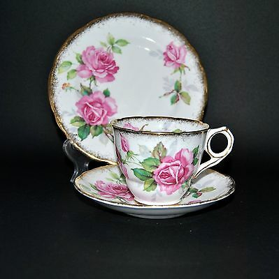 Royal Stafford Berkeley Rose English Bone China Trio Teacup/Saucer/Side Plate