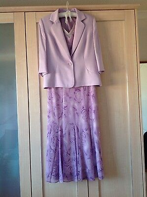 Lilac 'MIMOSA' Occassion Dress and Jacket size 12P