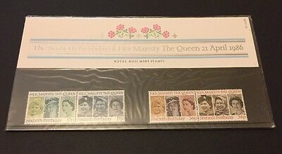 GB 1986 Presentation Pack 170 - 60th BIRTHDAY Her Majesty The Queen - MNH Stamps