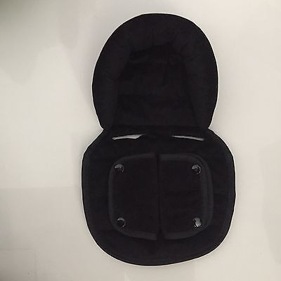 LINER & Soft Fabric HEAD SUPPORT INSERT For Steelcraft Capsule Stroller BLACK