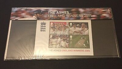 GB Stamps 2005. The Ashes - England Winners Presentation Pack M12. SGMS2573