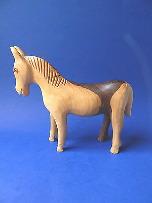 Horse Wood Carving Primitive Solid Heavy Wood