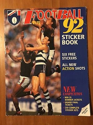 ⭐️ 1992 AFL Football Sticker Book - 60-70% Complete