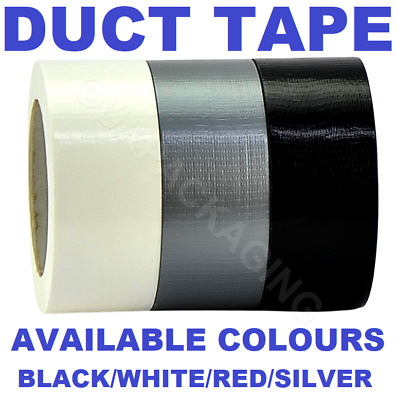 "Duck Duct Cloth Waterproof Gaffer Gaffa Tape Black White Silver 2"" 50mm X 50m"
