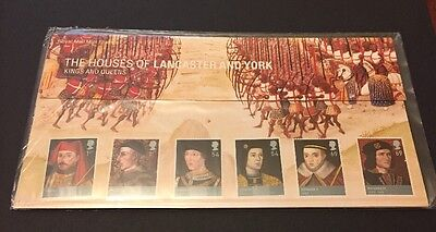 2008 KINGS and QUEENS HOUSES of LANCASTER and YORK PRESENTATION PACK No.409 & MS