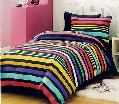 Brand New Single Size Bed Quilt/Doona Cover Pillowcases Set, Strokes