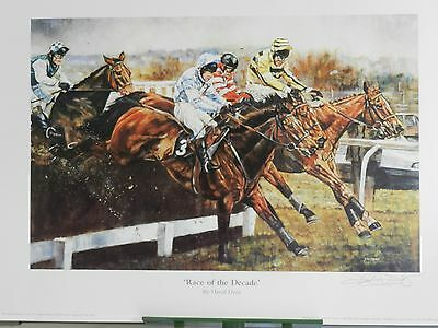 Race Of The Decade By David Dent Horse Racing Print