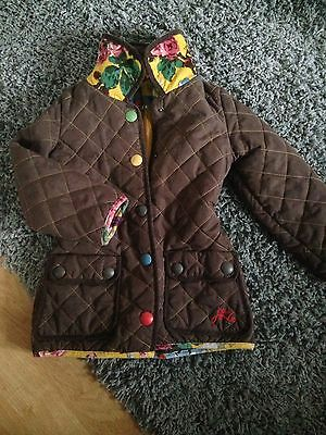 Joules Girls Quilted Coat Age 4