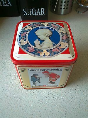 Vintage Style Good Housekeeping Empty Biscuit Tin