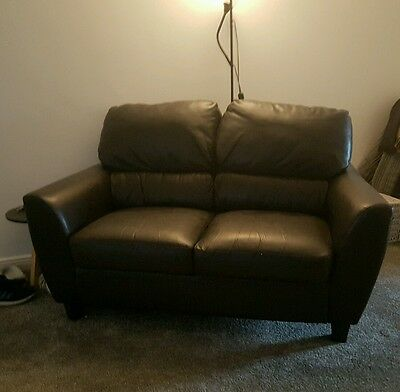 2 seater faux leather sofa with Free 3 Seater