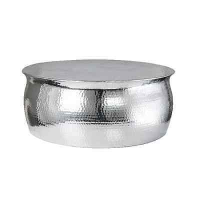 NEW INDIA HAMMERED TABLE CIRCULAR 30INCH 75CM D Aluminium COFFEE Table