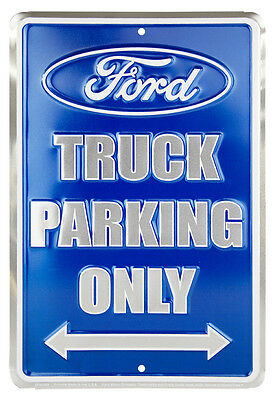 Ford Truck Parking Embossed Metal Sign