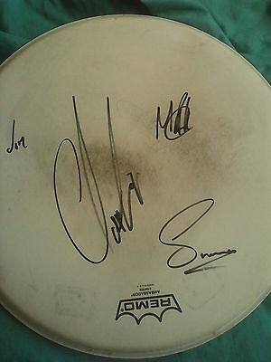 GENUINE hand signed Levellers drum head signed X4