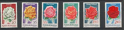 Romania 1970 Flowers Roses 6 MNH stamps