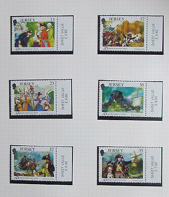 Jersey Postage Stamps French Revolution mint unmounted