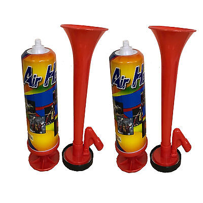 2x Gas Air Horn Hand Held Football Sport Event Loud New