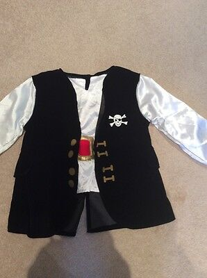 Boys fancy dress Pirate costume age 3-6 years Mothercare