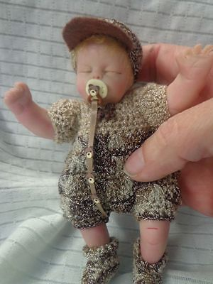 "ooak babies ... Mini baby articuled * EVAN * 6"" polymer ... created by LOU"