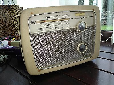 Defiant A55 transistor radio not working condition sixties collectable
