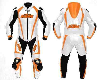 KTM 1-OR-2 PC Motorbike/Motorcycle Leather Suit Racing Leather Suit Biker (Rep)