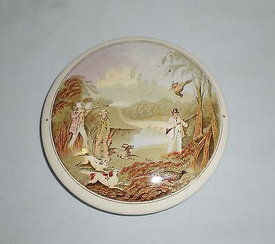 Early Victorian Pot Lid - Pheasant Shooting