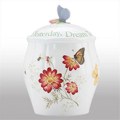 Lenox 827908 BUTTERFLY MDW DW SENTIMENT COOKIE JAR Pack of 1