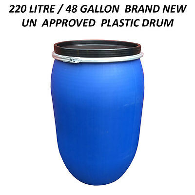 220 Litre Un Plastic Drum/barrel/container Shipping/waste/feed/water/food Grade