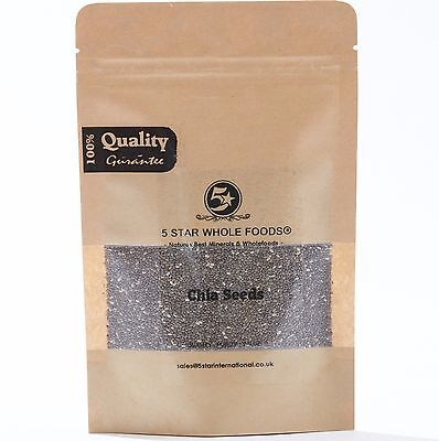Chia Seeds • Natural Weight Loss & Detox With Raw Whole Chia 100g/250g/500g/1kg