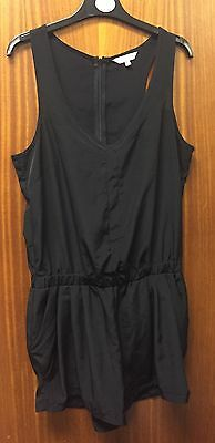 Ladies Black Playsuit from New Look Size 12 Bust 34""