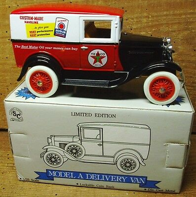 Texaco Model A Delivery   NOS Collectible  Die Cast Bank