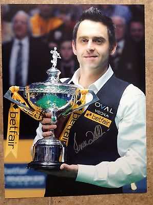 Ronnie O'sullivan Hand Signed Large Photo. Coa. Guarantee.