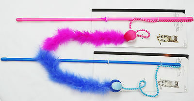 Cat/Kitten Teaser/Pole Play Toy Pink & Blue!