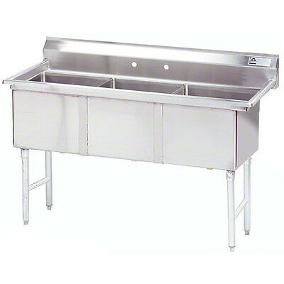 "Advance Tabco 3 Compartment Sink 18""x24""x14"" Size Bowl Stainless Steel"