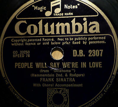 "FRANK SINATRA ""People Will Say We're In Love / They Sey Its Wonderful"" Columbia"