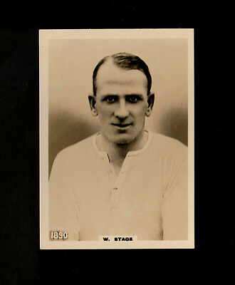 """Phillips 1922 Superb ( Football ) Type Card """" # 1890 W. Stage -- Footballers """""""