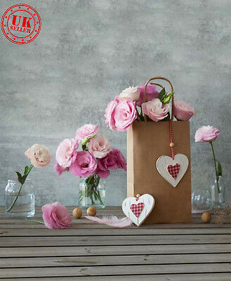Love Heart Rose Flower Baby Backdrop Background Vinyl Photo Prop 5X7Ft 150X220Cm