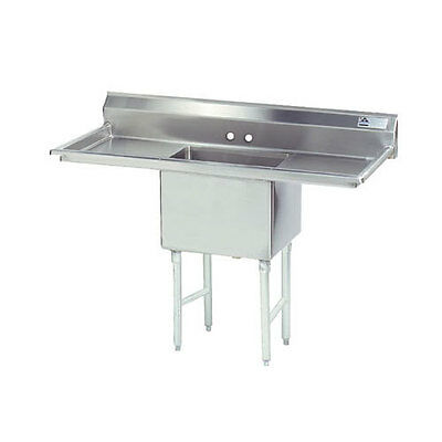 """Advance Tabco 1 Compartment Sink 24""""x24""""x14"""" Size Bowl 24"""" Two Drainboards"""