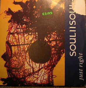 Soul II Soul - Just Right 7 inch single vinyl and sleeve in mint condition