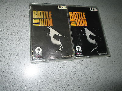 U2 Mexican Double (2) Cassette Tape Rattle And Hum Titles In Spanish