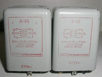 2 X TRW / UTC  A-16  Audio Transformer