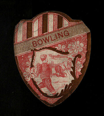 """J. Baines 1905 Scarce ( Rugby/football Shield ) Type Card """"  Bowling """""""