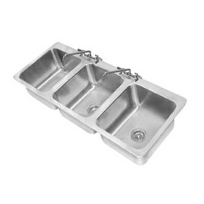 Advance Tabco DI-3-1410 3 Compartment Drop In Sink with Two Faucets