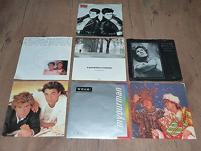 LOT OF 7 GEORGE MICHAEL & WHAM PICTURE SLEEVE 45s CARELESS WHISPER I'M YOUR MAN