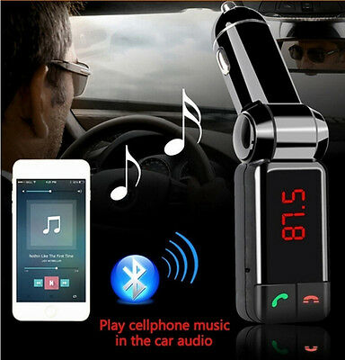 Wireless Bluetooth Car Kit FM Transmitter MP3 LCD USB Handsfree For Mobile Phone