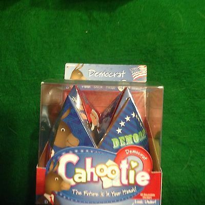 Democrat Cahootie Foldable Trivia Game with 40 Reusable Trivia Stickers, New