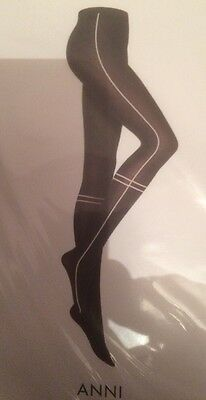 Wolford Next In Line Special Edition Anni Tights (14506 8116) Ridge/Black Small