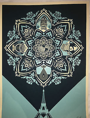 Shepard Fairey Screen Print Delicate Balance 1 Obey Giant Signed & Numbered Blue